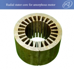 Radial Stator Core For Amorphous Motor